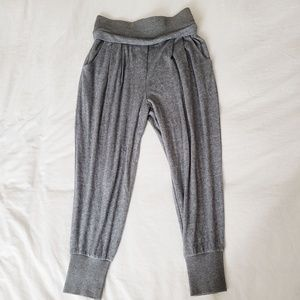 TROUVE Wool Blend Jogger Pants Gray Gathered